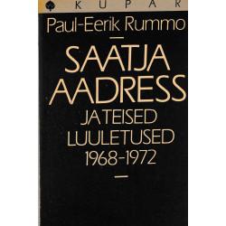 Saatja aadress ja teised luuletused 1968-1972
