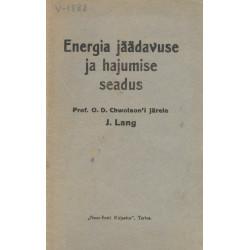 Energia jäädavuse ja hajumise seadus