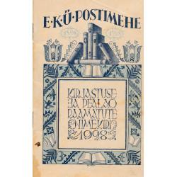 EKÜ Postimehe kirjastuse ja  pealao raamatute nimekiri 1928