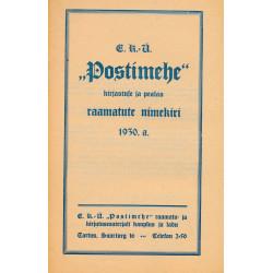 EKÜ Postimehe kirjastuse ja  pealao raamatute nimekiri 1930
