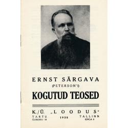 Ernst Särgava (Peterson'i) Kogutud teosed : raamatureklaam