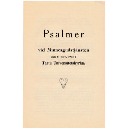 Psalmer vid Minnesgudstänsten