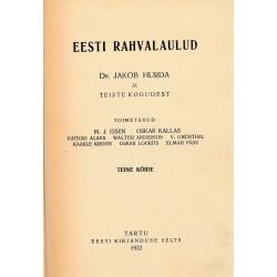 Eesti rahvalaulud. Teine köide : dr. Jakob Hurda ja teiste kogudest
