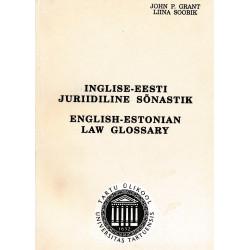 Inglise-eesti juriidiline sõnastik : English-Estonian law glossary