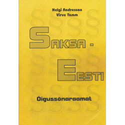 Saksa-eesti õigussõnaraamat : Rechtswörterbuch Deutsch-Estnisch