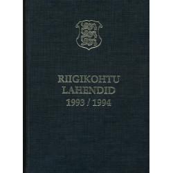 Riigikohtu lahendid 1993/1994
