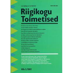 Riigikogu toimetised. 5/2002