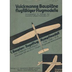 Segelflug-Rumpfmodell OS-GE-S3