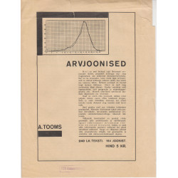 Arvjoonised : A. Tooms, 240...
