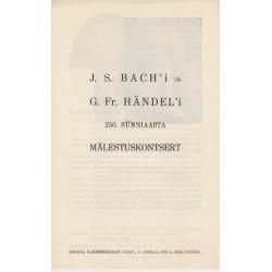 J.S. Bach'i ja G. Fr....