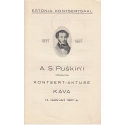 Estonia kontsertsaal  A. S....