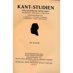 Kant-Studien, Band 29
