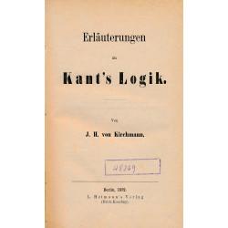 Erläuterungen zu Kant's...