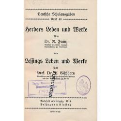 Herders Leben und Werke....