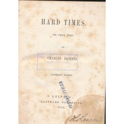Hard times : for these times