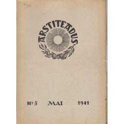 Arstiteadus Nr. 5, mai 1941