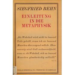 Einleitung in die Metaphysik