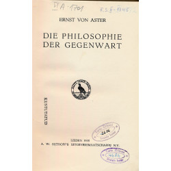Die Philosophie der Gegenwart