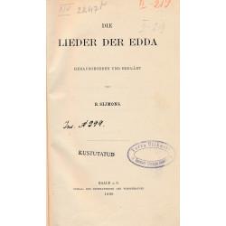 Die Lieder der Edda. Bd. 1...