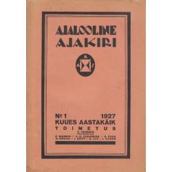 Ajalooline Ajakiri  1/1927