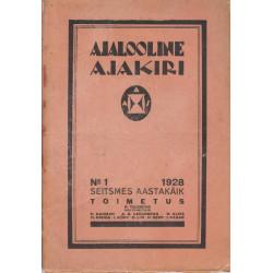 Ajalooline Ajakiri 1/1928