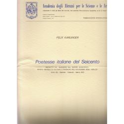 Poetesse italiane del Seicento