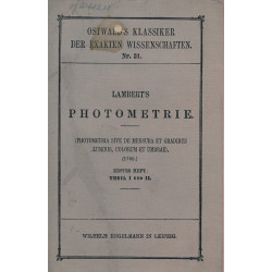 Lambert's Photometrie Heft...