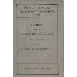Leibniz über die Analysis...