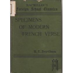 Specimens of Modern French...