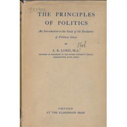 The principles of politics...