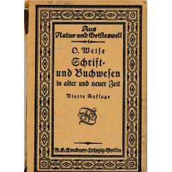 Schrift- und Buchwesen in...