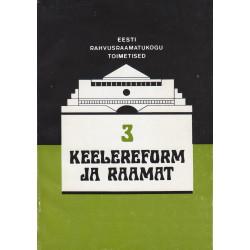Keelereform ja raamat. 3.