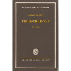Frühschriften. Bd. 1,...