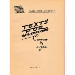 Texts for mathematicians
