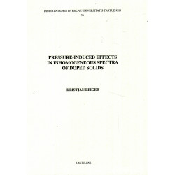 Pressure-induced effects in inhomogeneous spectra of doped solids