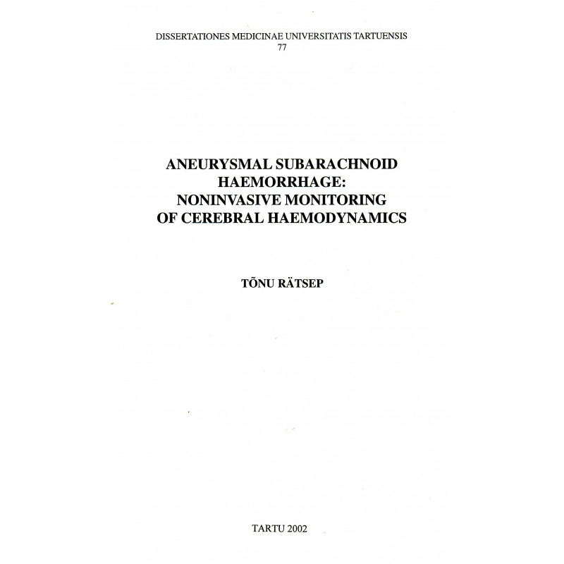 Aneurysmal subarachnoid haemorrhage: noninvasive monitoring of cerebral haemodynamics