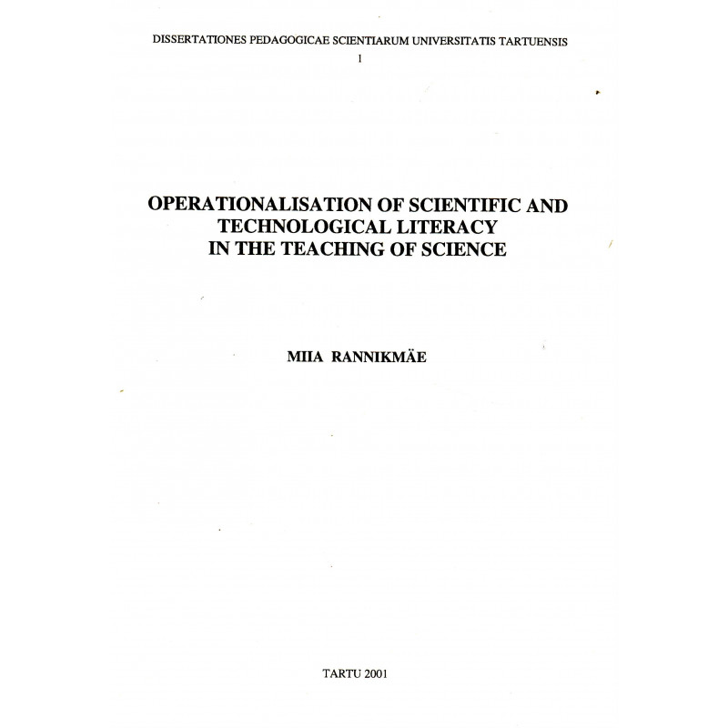 Operationalisation of scientific and technological literacy in the teaching of science
