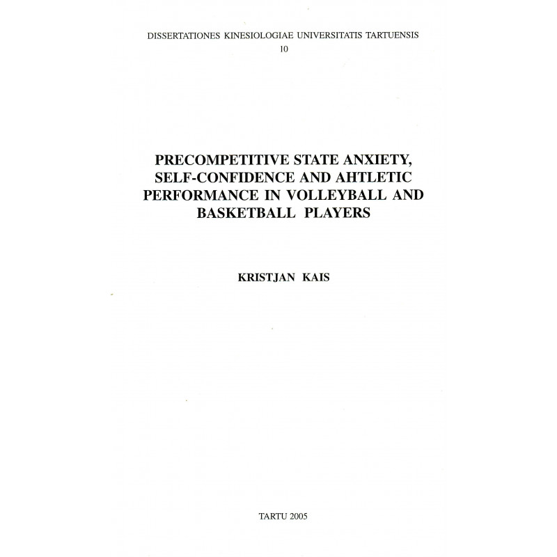Precompetitive state anxiety, self-confidence and ahtletic [p.o. athletic] performance in volleyball and backetball players
