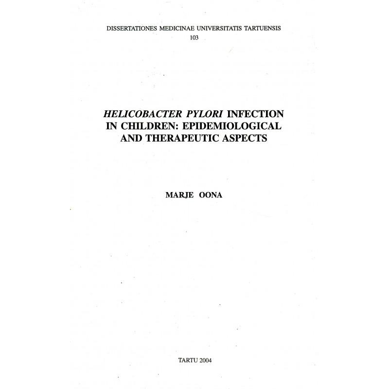 Helicobacter pylori infection in children ...