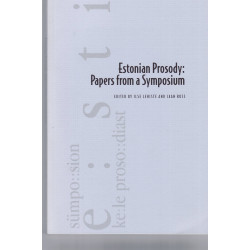 Estonian prosody: Papers from a Symposium