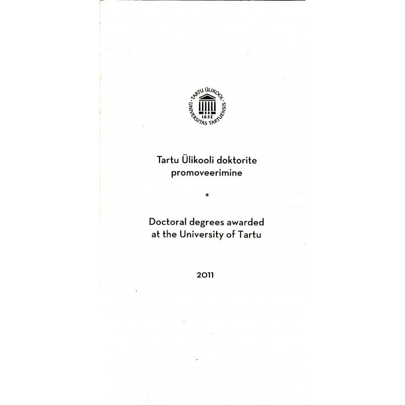Tartu Ülikooli doktorite promoveerimine