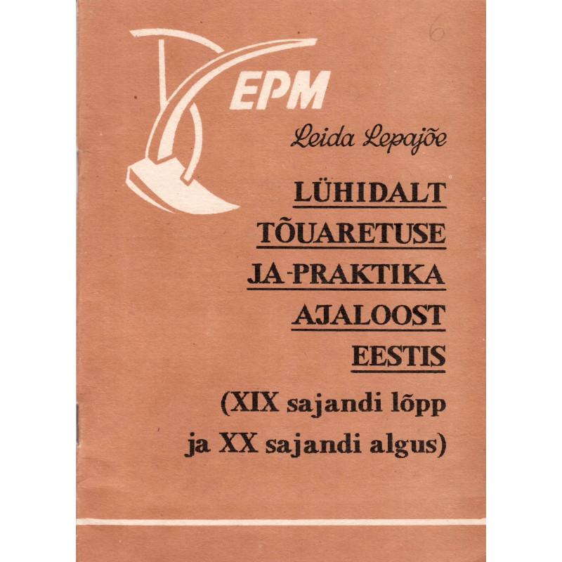 Lühidalt tõuaretuse ja -praktika ajaloost Eestis : (XIX saj. lõpp ja XX saj. algus)
