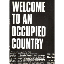 """Welcome to an occupied country"" : documentation and translation of an exhibition"