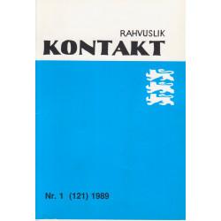 Rahvuslik Kontakt : Rootsi Eestlaste liidu ajakiri. 1989, nr.1(121)