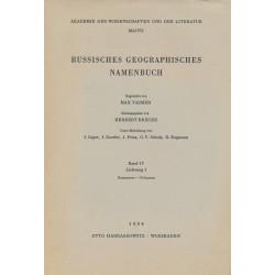 Russisches geographisches Namenbuch : Bd. 4, Lief. 1. : Каллистово-Кобылина