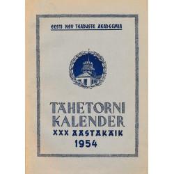Tartu Tähetorni kalender 1954. aastaks